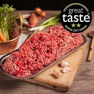 6 packs steak mince £19.90 + £5 delivery at Donald Russell