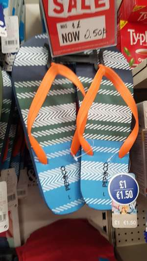 Slippers/ flip flops for 50p @ poundland