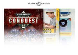 Warhammer Conquest Magazine with 3 models, brush and 3 paints (Issue 1) - £1.99 - Various stores