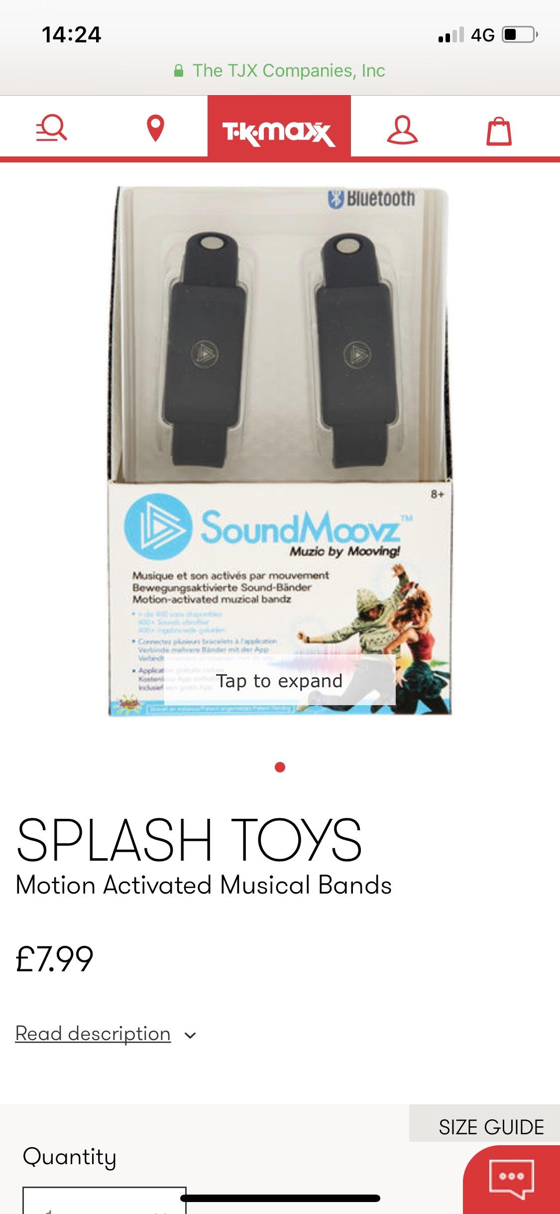 Soundmoovz musical bands £7.99 tkmaxx instore / online