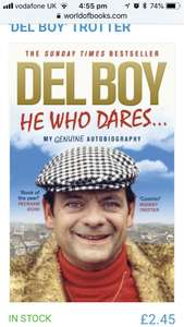 HE WHO DARES BY DEREK 'DEL BOY' TROTTER £2.45 @ World of books