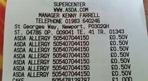 Asda Hayfever Nasal Spray 100 doses reduced to 50p instore Isle of Wight