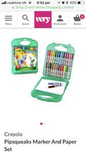Crayola Pipsqueaks Marker And Paper Set - £8.99 @ Very (free C&C)
