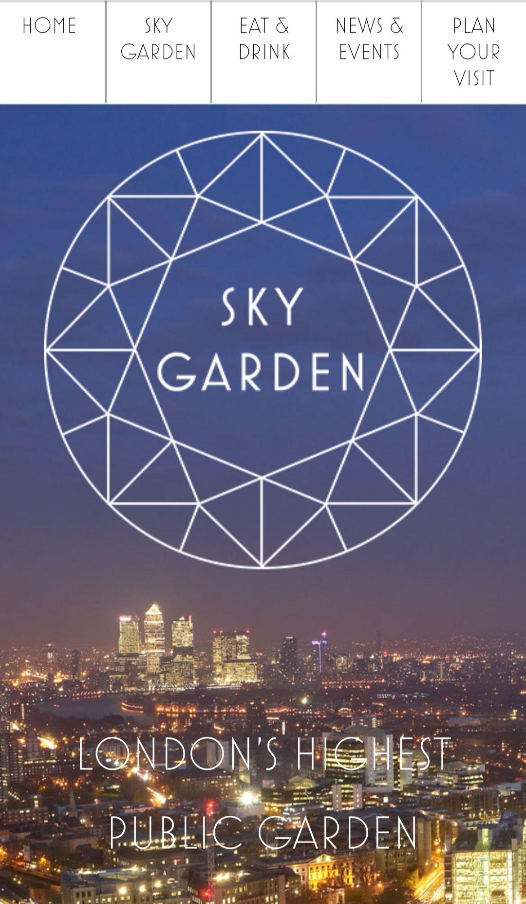 Free access to London's Sky Garden