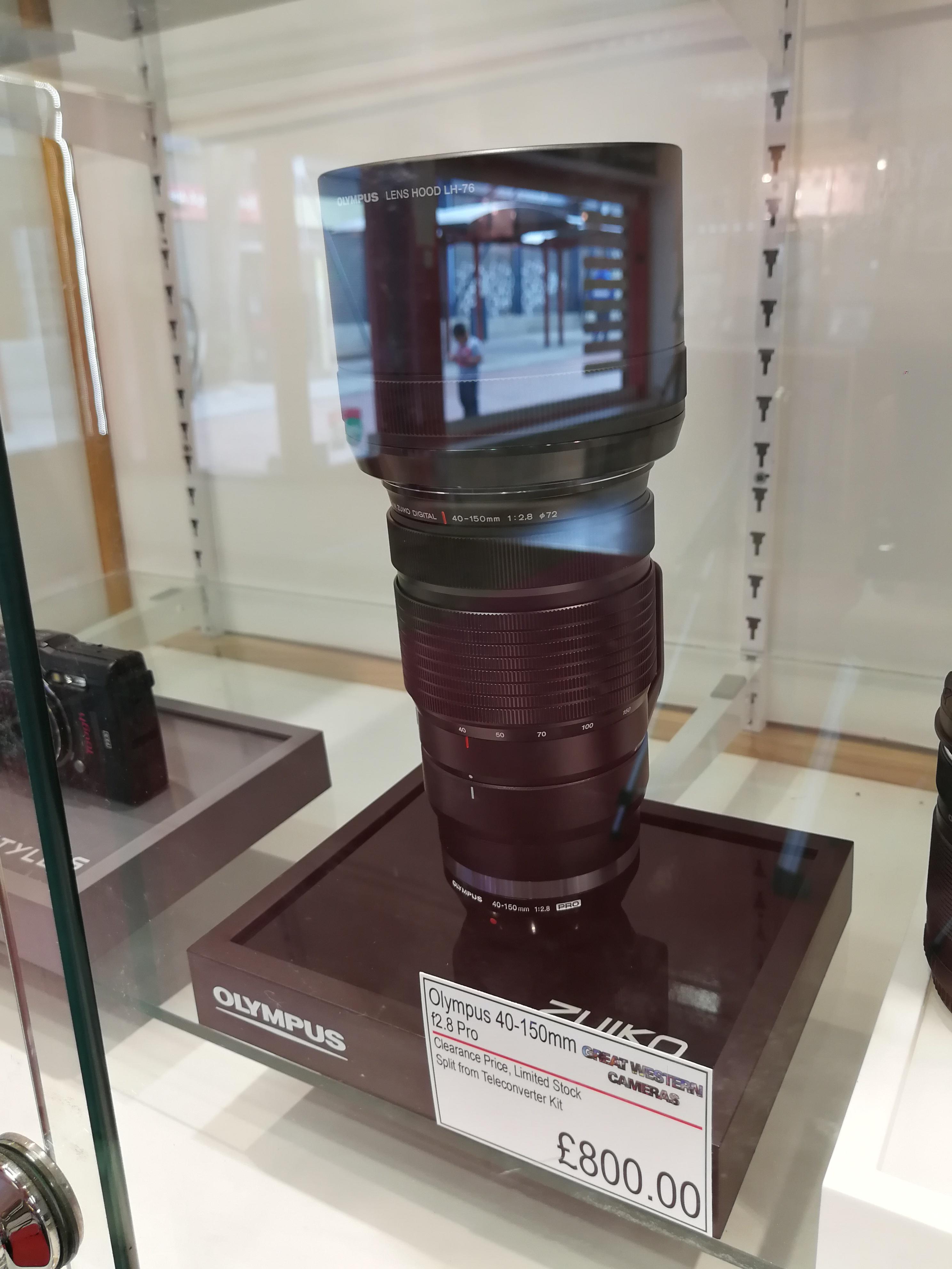 Olympus 40-150mm f2.8 PRO lens £800 - Great western cameras Swindon