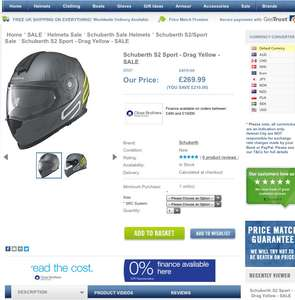 Schuberth helmets with heavy reductions at helmetcity - S2 was £479.99 now £269.99 @ Helmet city