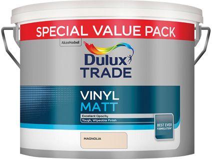 Dulux Trade Vinyl Matt Magnolia 7.5L Paint for £24 @ Travis Perkins