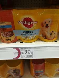 Pedigree puppy food x6 tins 90p instore @ Wilko