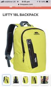 LIFTY 18L BACKPACK  £6.99 Trespass