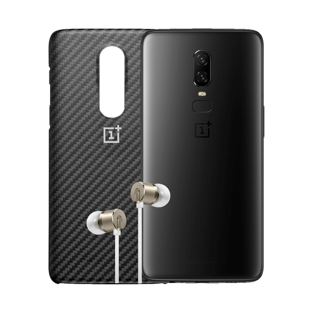 OnePlus 6 - 256GB / 8GB Big Storage Bundle: Bullet headphones + Case £569