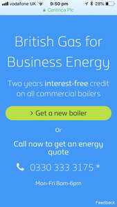 Free boiler quote commercial @ British Gas