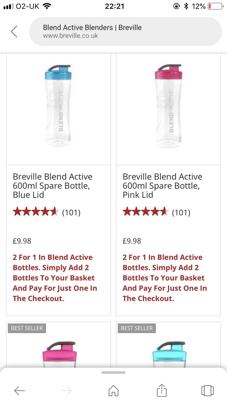 2 for 1 on belville active blend bottles £9.98 delivery £3.99