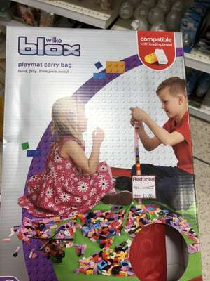 Some toys reduced in Wilko. E.g. Blox playmat £1, farm/army buckets 30p