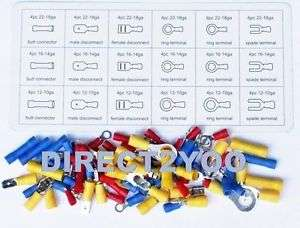 76pc Spade Connectors Terminal Male Female£4.18 delivered @ eBay direct2yoo