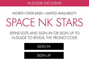 Spend £175 or more online or in store and receive a massive BUMPER PACK of beauty products worth £400+ for FREE at space nk