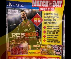 PES and Match of The Day Magazine. £24.99 at  buysubscriptions.com