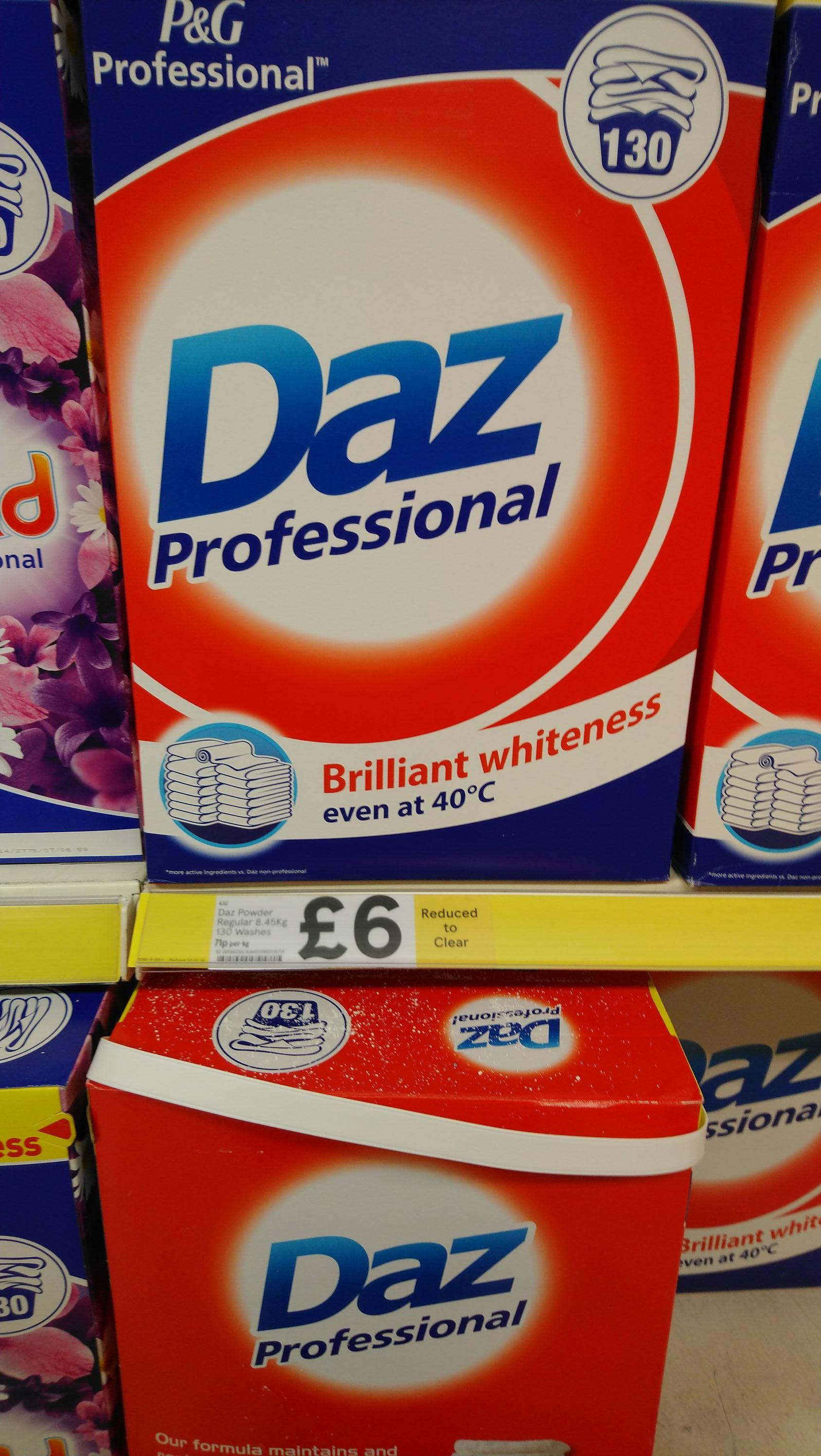 Daz professional 130 wash £6 instore @ tesco St Stephens hull