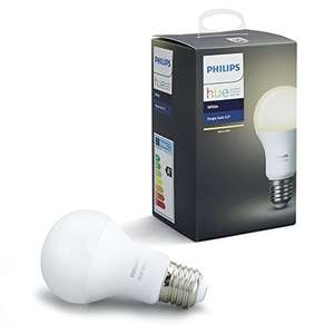 Philips Hue White A19 E27 60 W Equivalent Dimmable LED Smart Bulb (Compatible with Amazon Alexa, Apple HomeKit and Google Assistant) [Energy Class A+] £8.64 (Prime) / £13.13 (non Prime) at Amazon