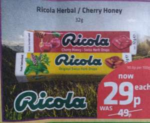 Ricola Herbal Drops 29p at Savers
