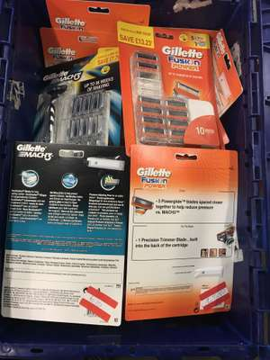 gillette mach 3 razors (12 blades) gillette fusion power (10 blades) £7.50 instore at asda cemetery road, bradford