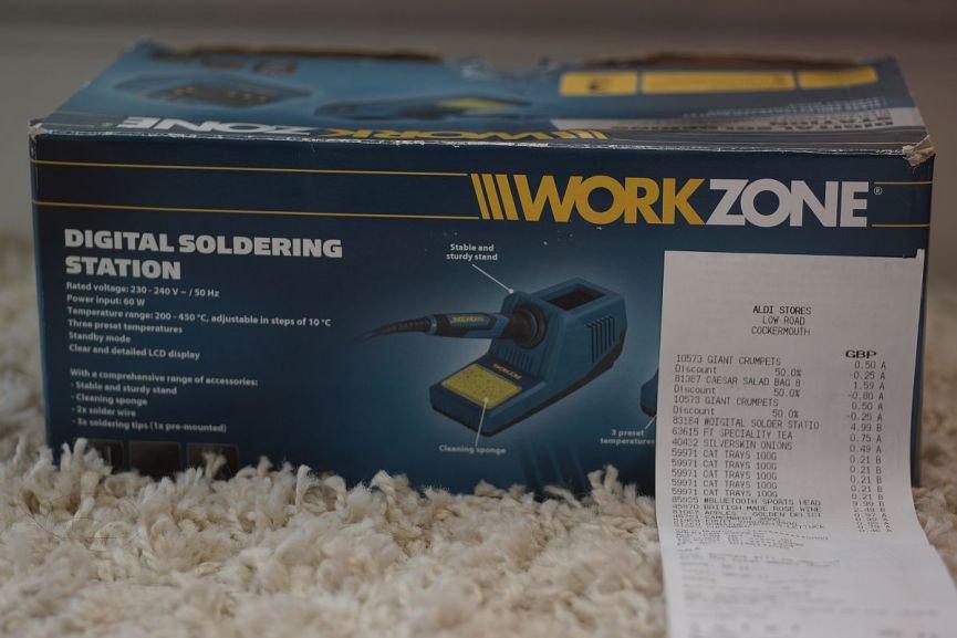 Aldi (instore): Workzone Digital soldering station reduced to £4.99