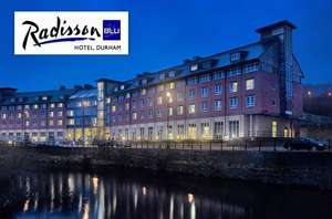 4 star overnight stay for 2 at Radisson Blu in Durham with late checkout, breakfast, spa access and 25% off food & drink from £69 / £34.50pp @ Wowcher