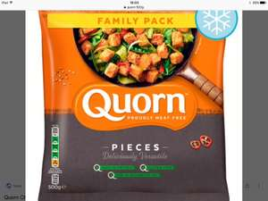 500g family pack of Quorn pieces Two packs for £4 inhouse Farmfoods