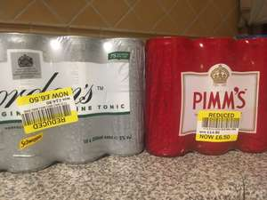 10 cans of Pimm's or G&T for £6.50 instore at Tesco