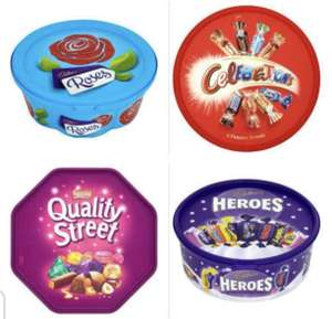 Celebrations 650g/Quality Street 720g/Roses 660g/Quality Street 720g one for £4.00 @ Asda