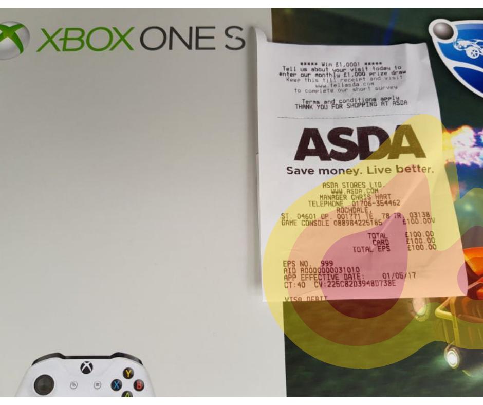 Xbox One S 500gb Rocket League bundle £100 @ Asda instore - Rochdale