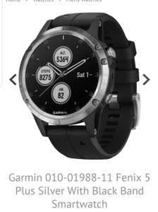 Fenix 5 plus silver with black band £503.99 @ H.S Johnson