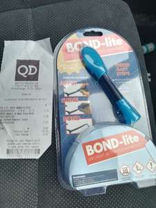 BOND-lite UV Light Activated Adhesive 98p from QD Stores (INSTORE)