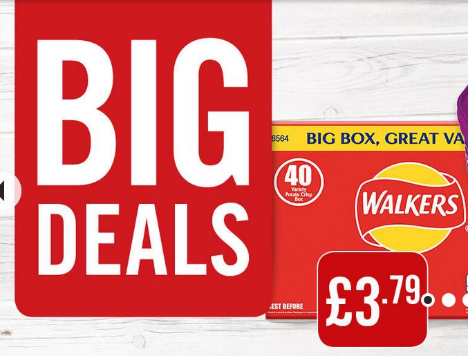 Walkers Variety Crisps 40 Box 40x25g £3.79 @ Iceland Food Warehouse