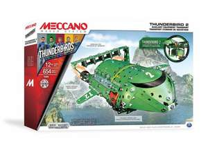 Meccano Thunderbird 2 Construction Kit 627 pieces only £26.99+ £1.99 p&p Great for kids & Adults @ Groupon