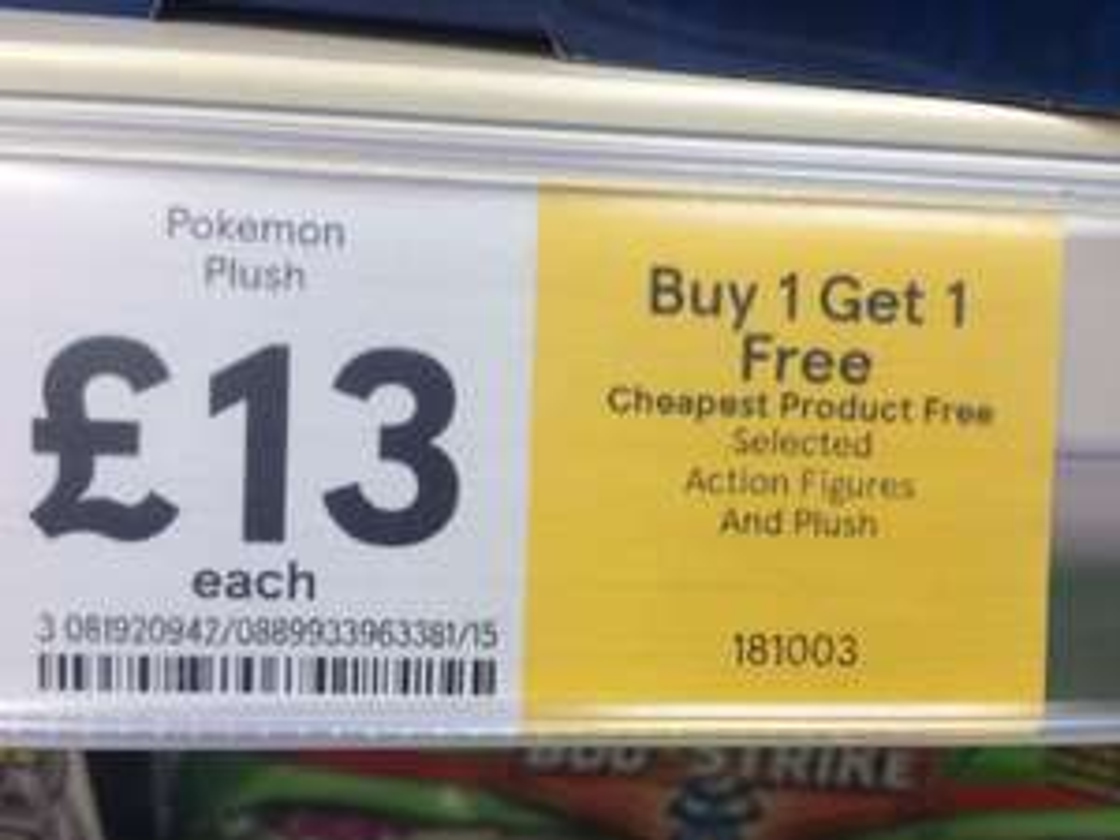 8 Inch Pokemon Plushies - £13 Buy One Get One Free @ Tesco
