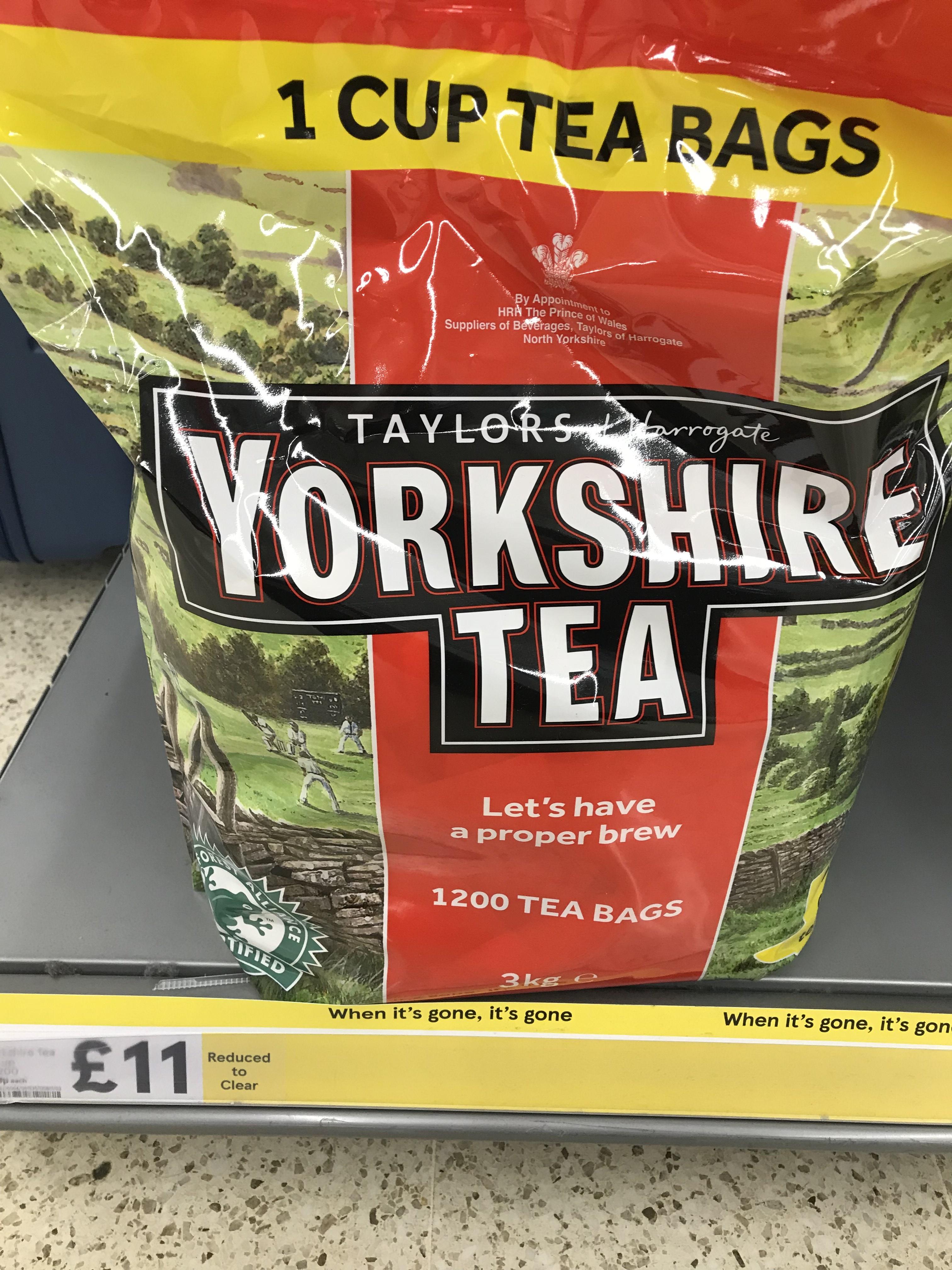 Yorkshire Tea One Cup 3kg (1200 Tea Bags) £11 rtc @ Tesco St Rollox