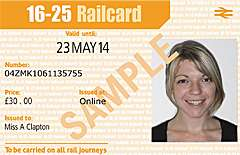 16-25 RAILCARD ( Save 1/3 on all train tickets, can be up to 50% off)
