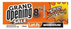 Latif's grand opening sale Sat 8th Sep Birmingham