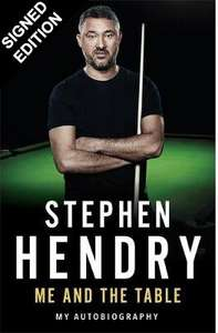 Signed Copy of Stephen Hendry's Autobiography for only £20 @ Waterstones