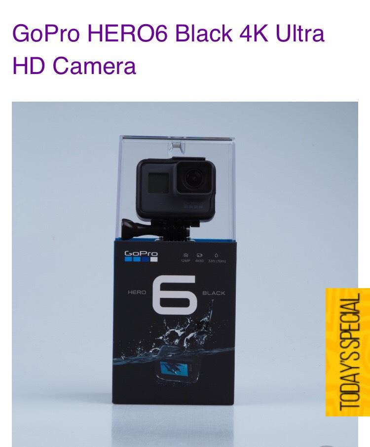 GoPro Hero 6 Black £278.34 @ Eglobal Central