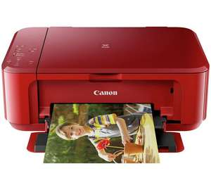 Canon Pixma MG3650 wireless AirPrint printer / scanner in red or black now £29.99 @ Argos