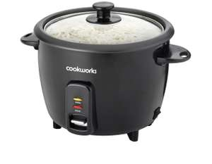 Cookworks 1.5L Rice Cooker - Black - £14.99 @ Argos