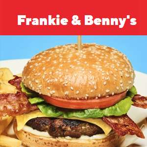 40% off starters, mains and desserts C&C orders at Frankie & Benny's [Classic Burger & fries £5.39]