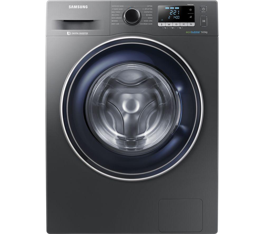 SAMSUNG ecobubble WW90J5456FX 9 kg 1400 Spin Washing Machine - Graphite/White £399 w/code @ Currys