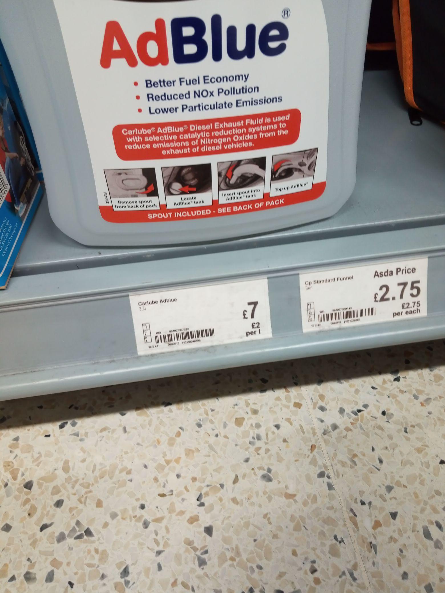 Adblue 3.5L £7  at Asda instore