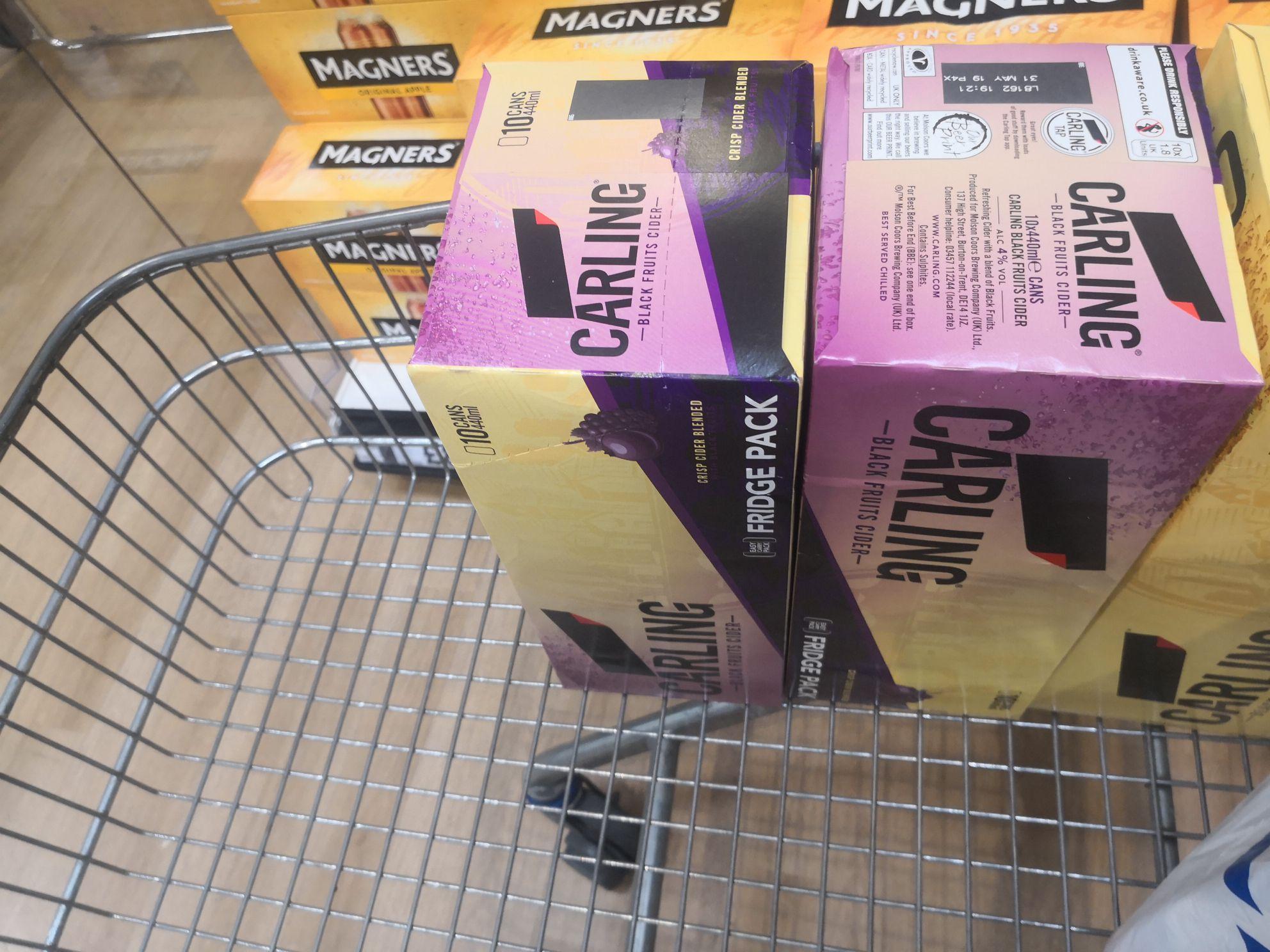 Carling black fruit cider fridge pack £6.40 @ Tesco  knocknagoney