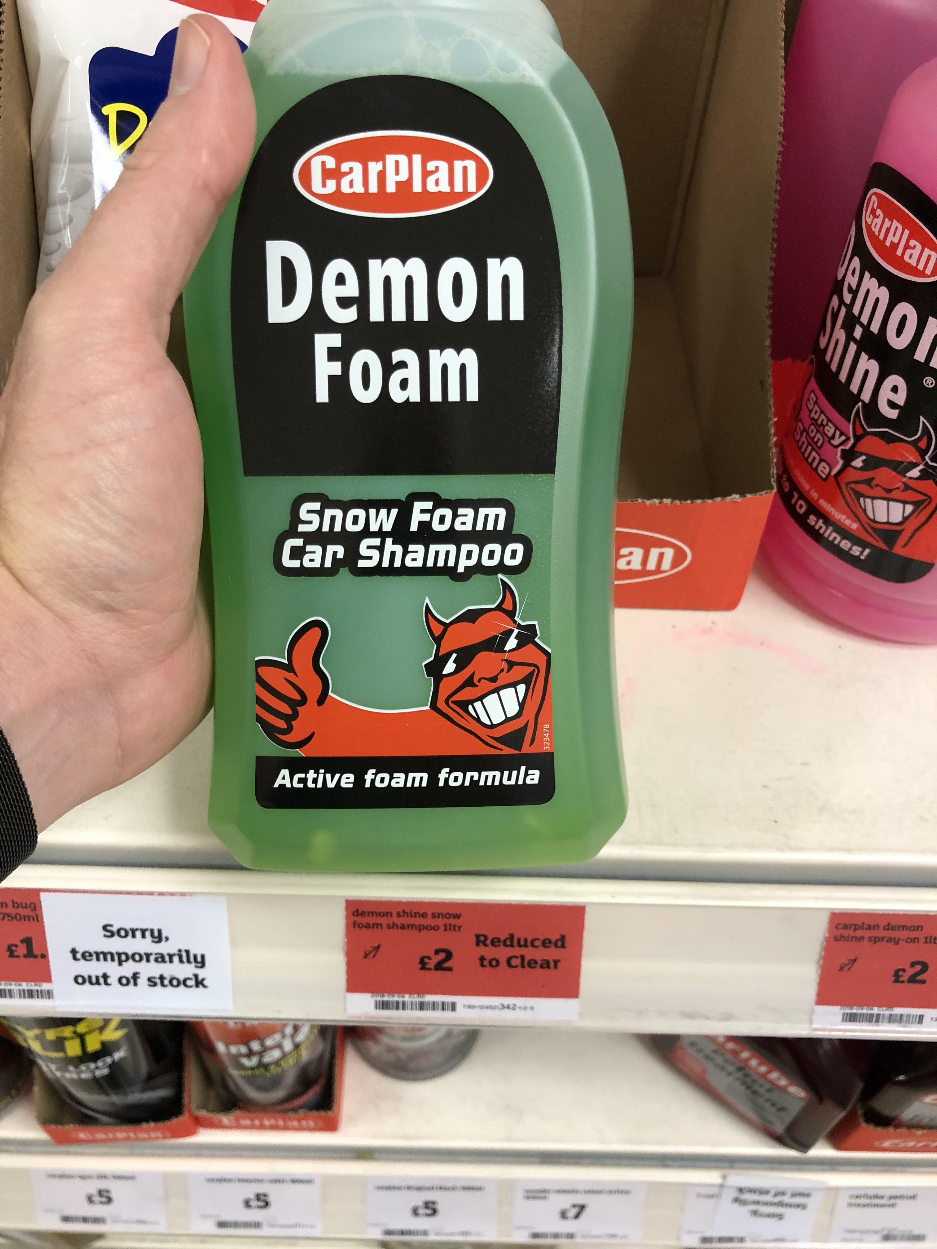 Snow Foam Demon Shine by Carplan £2 @ Sainsbury's instore