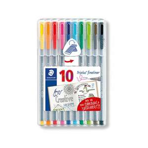 Staedtler Triplus Fineliner Pack of 10 £2.99 @ Ryman email voucher (IN STORE ONLY)
