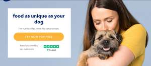 Tails.com 2 weeks dog food free, £2 delivery