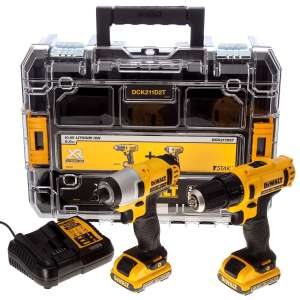 DEWALT DCK211D2T-GB - 10.8V COMBO KIT WITH DRILL DRIVER, IMPACT DRIVER 2 X 2.0AH £119.99 @ Toolsense